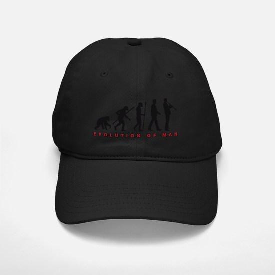 evolution of man clarinet player Baseball Hat