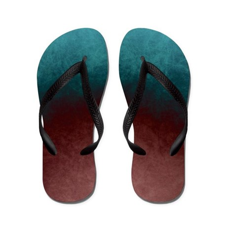Abstract Painting In Colors Flip Flops By Listing Store 118175116