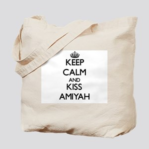 Keep Calm and kiss Amiyah Tote Bag