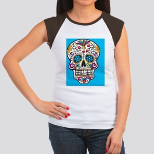 Sugar Skull Halloween B Women's Cap Sleeve T-Shirt