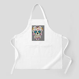 Sugar Skull Halloween Grey Apron