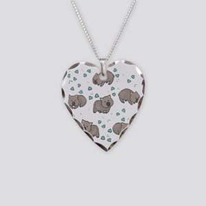 Wombat Necklace Heart Charm