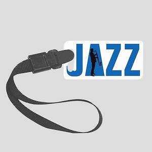 Jazz bass clarinet player Small Luggage Tag
