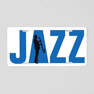 Jazz bass clarinet player Aluminum License Plate