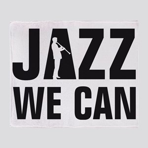 Jazz clarinet player Throw Blanket