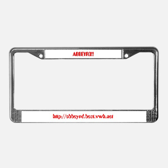 Abbeyrd Beatles Page License Plate Frame