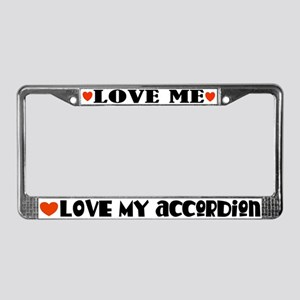 Love My Accordion License Plate Frame