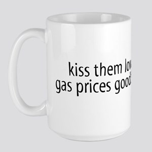Bush Kiss Gas Prices Large Mug