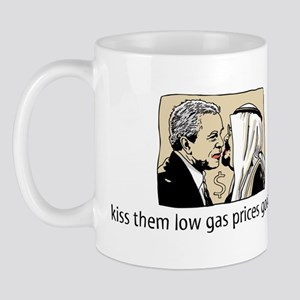 Bush Kiss Gas Prices Mug