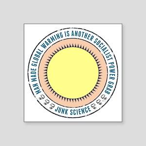 "Junk Science Power Grab Square Sticker 3"" x 3"""