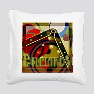 Billiards Circles Square Canvas Pillow