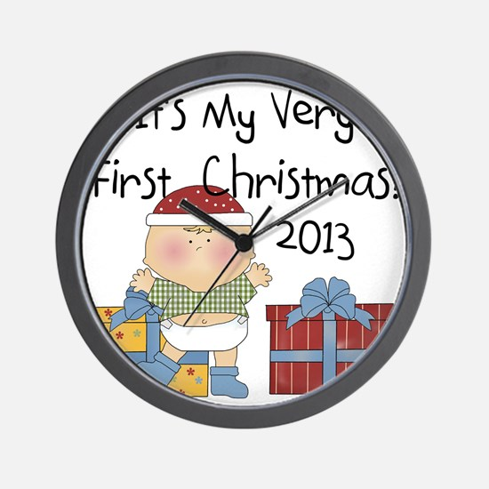 2013 Boy First Christmas Wall Clock