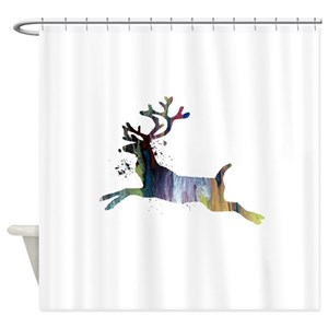Girly Deer Shower Curtains