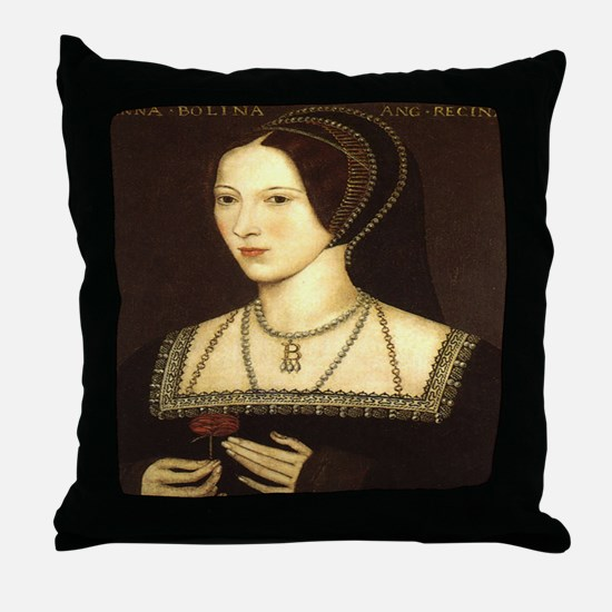 Anne Boleyn Throw Pillow