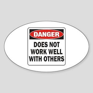 Work Well Sticker (Oval)