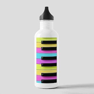 Piano Keys Neon Stainless Water Bottle 1.0L