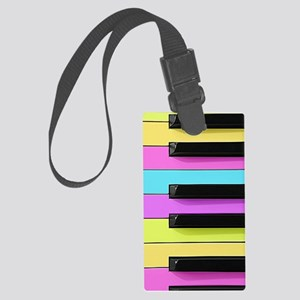 Piano Keys Neon Large Luggage Tag