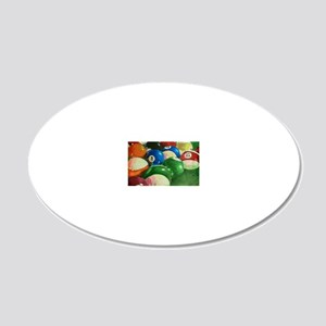 Billiards Time 20x12 Oval Wall Decal