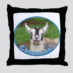 Laughing Goat Throw Pillow