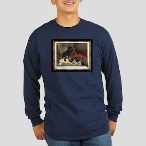 Antique Toy Spaniels Long Sleeve Dark T-Shirt
