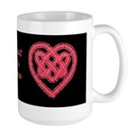 Celtic Knot - Hearts Beating As One Large Mug
