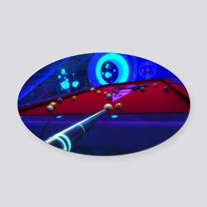 Pool Fantasy Oval Car Magnet