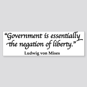 Mises Quote Bumper Sticker