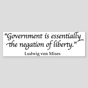 Mises Quote Bumper Sticker
