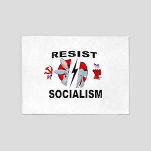 SOCIALISM 5'x7'Area Rug