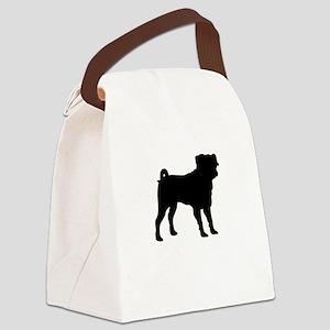 pug 1 Canvas Lunch Bag