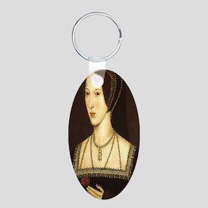 Anne Boleyn Aluminum Oval Keychain