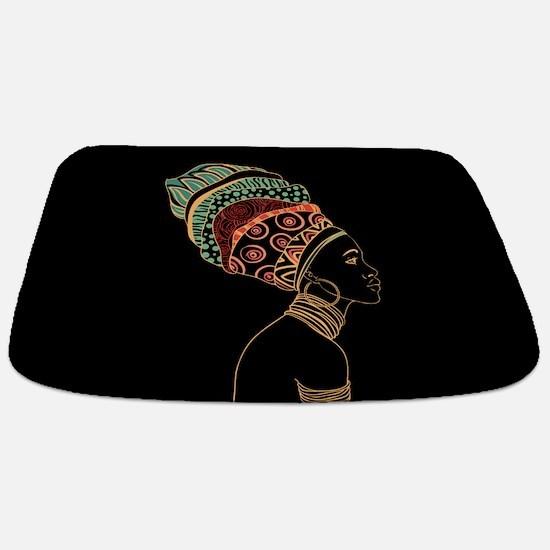 African Woman Bathmat