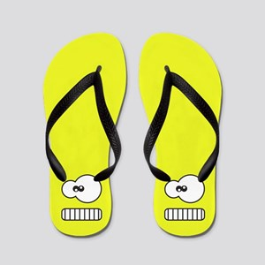 Silly Monster Face Flip Flops