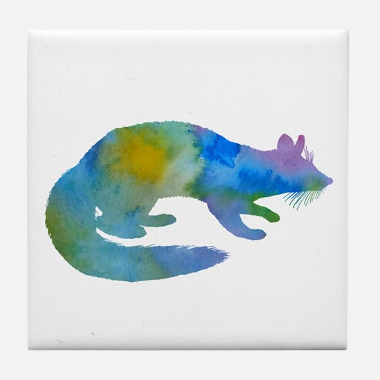 A ringtail Tile Coaster
