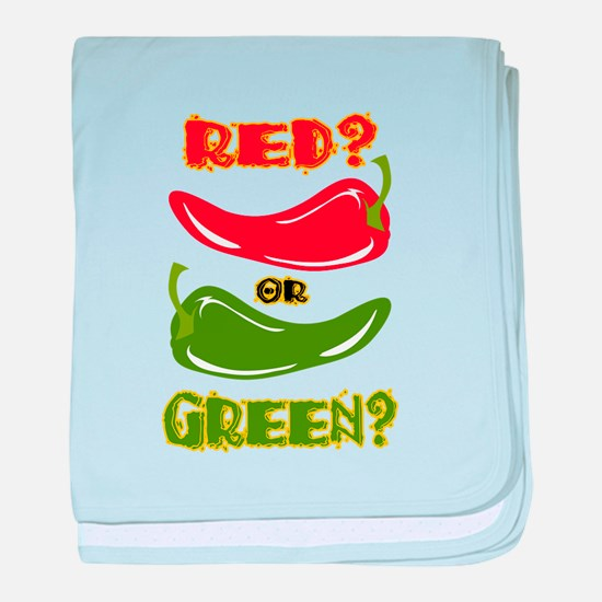 RED? OR GREEN? baby blanket