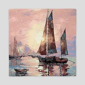 Sailboat Painting Queen Duvet
