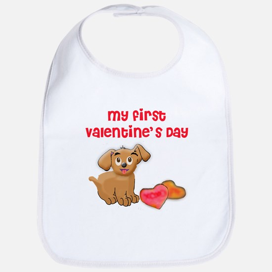 My first Valentines Day Bib