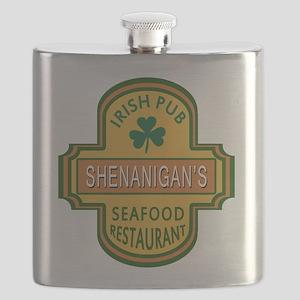 Customizable Irish Pub Flask