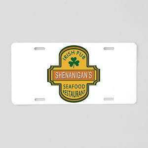 Customizable Irish Pub Aluminum License Plate