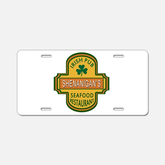 Customizable Irish Pub Aluminum License Plate