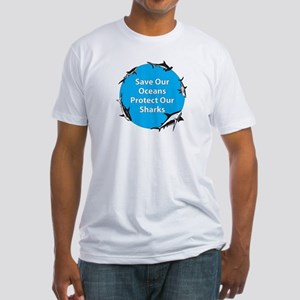 Save Our Oceans. Protect Our  Fitted T-Shirt