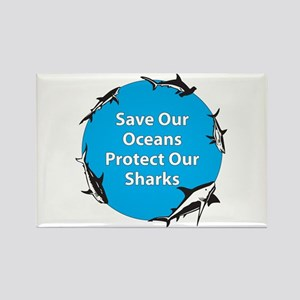 Save Our Oceans. Protect Our Rectangle Magnet