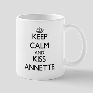 Keep Calm and kiss Annette Mugs