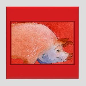 Pink Piggy Tile Coaster