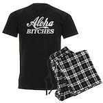 Aloha Bitches Funny Men's Dark Pajamas
