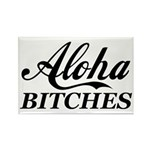 Aloha Bitches Funny Rectangle Magnet (10 pack)