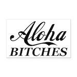 Aloha Bitches Funny Rectangle Car Magnet