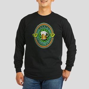 CUSTOM Irish Pub Sign Long Sleeve Dark T-Shirt
