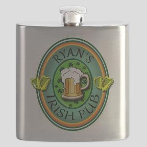 CUSTOM Irish Pub Sign Flask