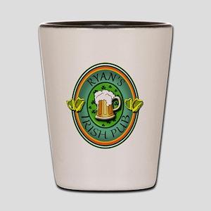 CUSTOM Irish Pub Sign Shot Glass